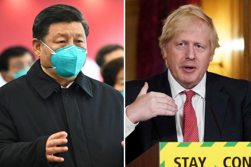 China blasts Boris Johnson for urging Brits to get back to work and brands Britain's handling of coronavirus a 'mess'