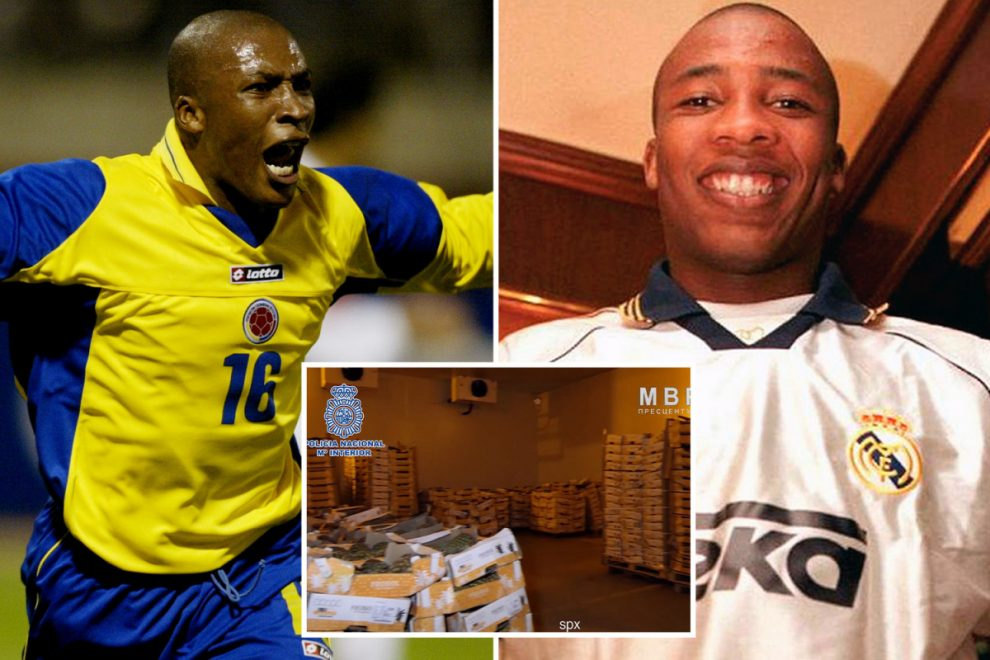 Ex-Real Madrid player Edwin Congo arrested as cops smash gang smuggling cocaine soaked in cardboard fruit boxes