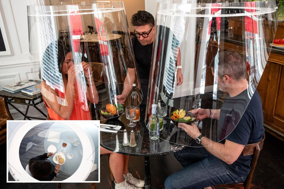 Glimpse of going out for dinner after coronavirus as restaurants plan glass 'lampshade' bubble pods to keep us safe