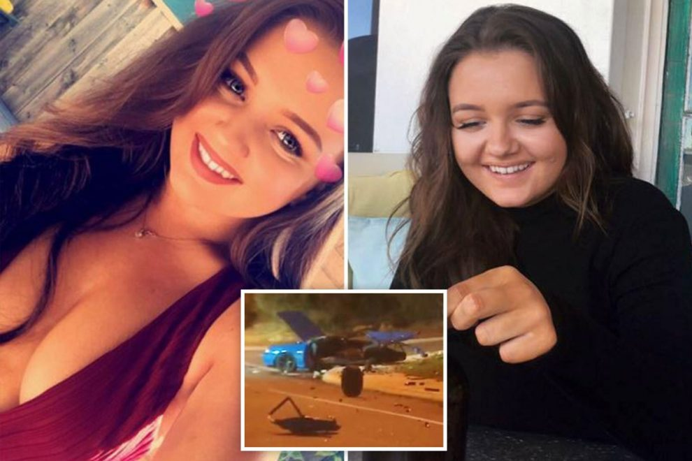 Pregnant woman, 21, and unborn baby killed when boyfriend's car crashed, splitting it in two