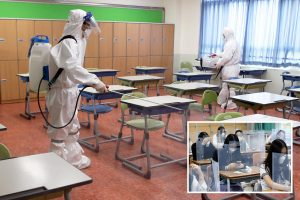 South Korea closes schools again just three days after they reopened as 176 new coronavirus cases reported