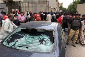 Pakistan Stock Exchange attack – 'At least nine dead' as terrorists open fire and hurl grenades in Karachi building