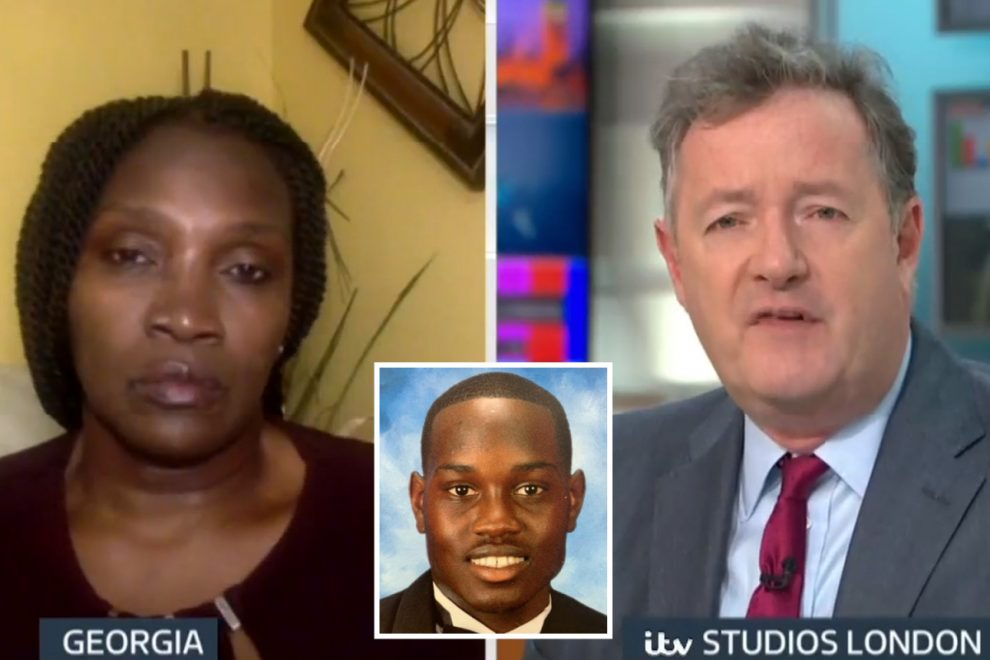 Piers Morgan tells Ahmaud Arbery's mum death was 'nearest thing to lynching I've ever seen' after killing by vigilantes